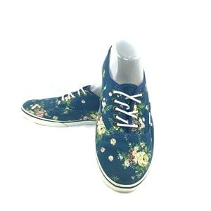 VANS Lo Pro Floral Blue Canvas Unisex Skate Shoes